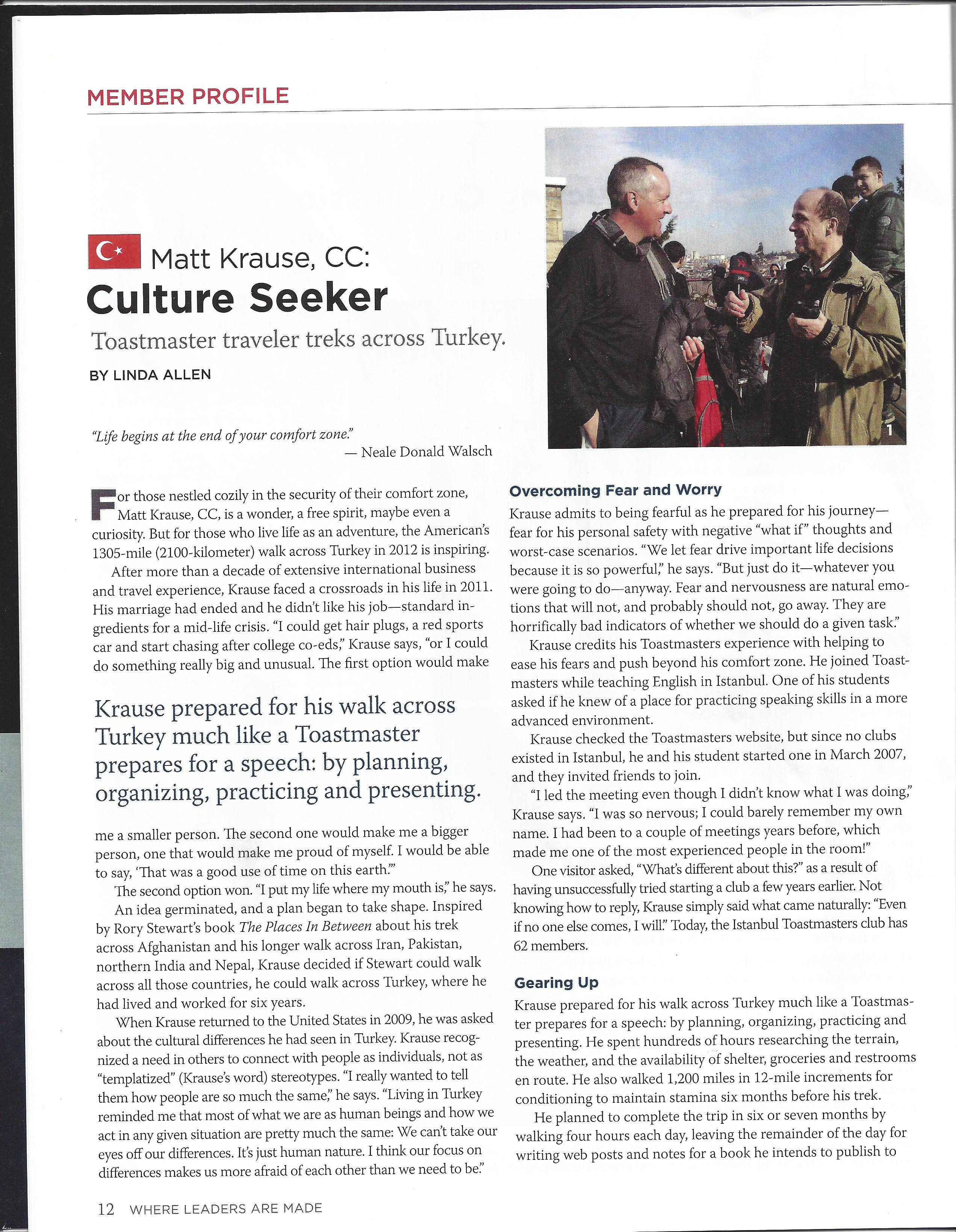 Toastmaster magazine, May 2014 issue, page 1 of 2