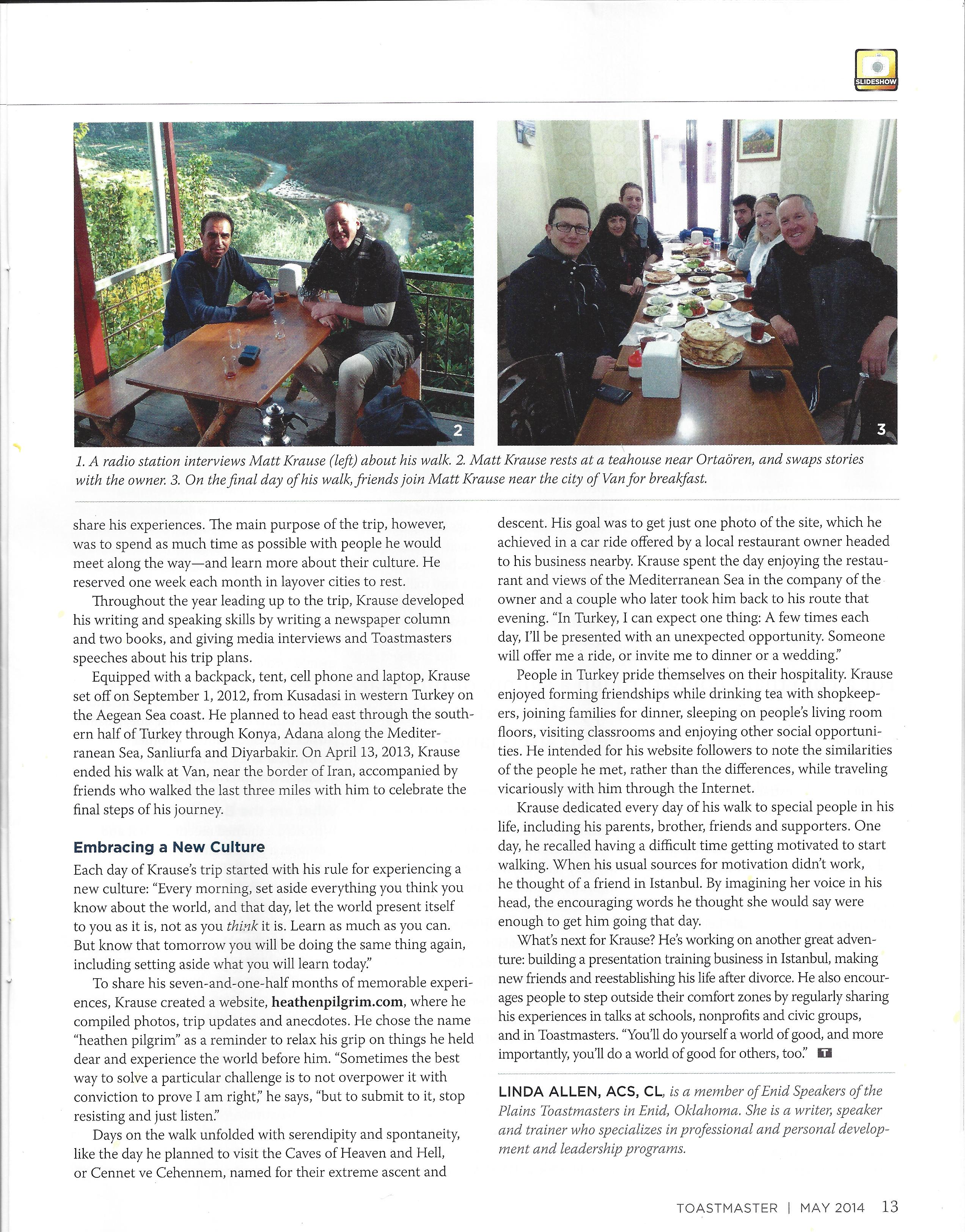 Toastmaster magazine, May 2014 issue, page 2 of 2